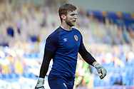 Hull City goalkeeper George Long (1) warming up prior to kick off during the EFL Sky Bet League 1 match between AFC Wimbledon and Hull City at Plough Lane, London, United Kingdom on 27 February 2021.