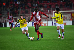 November 8, 2018 - Athens, Attiki, Greece - Effort of Yaya Toure (no 42) of Olympiacos during the match against F91 Dudelange..Olympiacos has won F91 Dudelange 5-1 for the UEFA Europa League. (Credit Image: © Dimitrios Karvountzis/Pacific Press via ZUMA Wire)