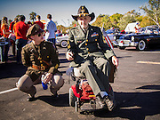 "11 NOVEMBER 2013 - PHOENIX, AZ: Generations of veterans at the Phoenix Veterans Day Parade. The Phoenix Veterans Day Parade is one of the largest in the United States. Thousands of people line the 3.5 mile parade route and more than 85 units participate in the parade. The theme of this year's parade is ""saluting America's veterans.""    PHOTO BY JACK KURTZ"