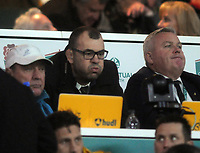Rugby Union - 2017 Old Mutual Wealth Series (Autumn International) - England vs. Australia<br /> <br /> A very unhappy Australian coach Michael Cheika, in the stand at Twickenham.<br /> <br /> COLORSPORT/ANDREW COWIE