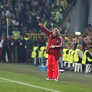 Benfica's coach Jorge Jesus (C) during their UEFA Europa League Semi Final first match Fenerbahce between Benfica at Sukru Saracaoglu stadium in Istanbul Turkey on Thursday 25 April 2013. Photo by Aykut AKICI/TURKPIX
