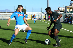 November 1, 2017 - Naples, Italy - Giuseppe Esposito of Napoli and Taylor Richards of Manchester City during the UEFA Youth League Group F match between SSC Napoli and Manchester City on November 1, 2017 in Naples, Italy. (Credit Image: © Matteo Ciambelli/NurPhoto via ZUMA Press)