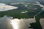 Nederland, Flevoland, Gemeente Lelystad, 27-08-2013; Oostvaardersplassen met Grote Plas. <br /> Bird sanctuary and nature reserve Oostvaardersplassen north-east of the city of Almere.<br /> luchtfoto (toeslag op standaard tarieven);<br /> aerial photo (additional fee required);<br /> copyright foto/photo Siebe Swart.