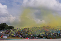 Valentino Rossi's Fans during the MotoGP Italy Grand Prix 2017 at Autodromo del Mugello, Florence, Italy on 4th June 2017. Photo by Danilo D'Auria.<br /> <br /> Danilo D'Auria/UK Sports Pics Ltd/Alterphotos