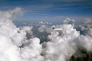 Flying through cumulus clouds