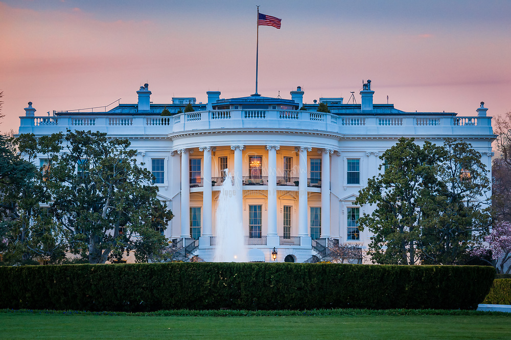 The US presidential residence at 1600 Pennsylvania Avenue in Washington, DC