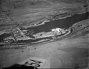 Ackroyd C00025-1. Celilo Falls aerial September 12, 1947 (color faded, coverted to greyscale)