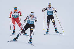 27.02.2021, Oberstdorf, GER, FIS Weltmeisterschaften Ski Nordisch, Oberstdorf 2021, Damen, Nordische Kombination, Langlauf, im Bild v.l.: Stefaniya Nadymova (RSF), Lisa Hirner (AUT), Annalena Slamik (AUT) // f.l.: Stefaniya Nadymova of Russian Federation Lisa Hirner of Austria Annalena Slamik of Austria during a training session for the Cross Country Competition of women Nordic combined of FIS Nordic Ski World Championships 2021. in Oberstdorf, Germany on 2021/02/27. EXPA Pictures © 2021, PhotoCredit: EXPA/ Dominik Angerer