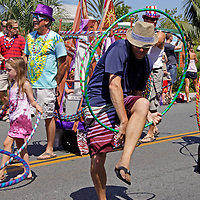 Cardiff by the Sea 100th Birthday Parade: Hula Hooping Dude