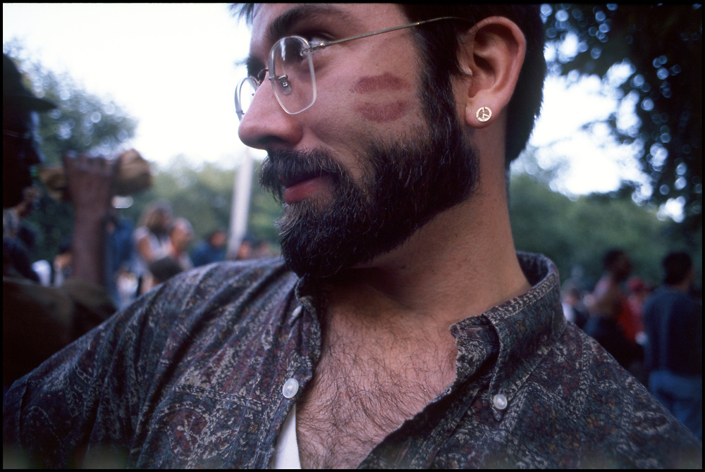 John Kelly at Wigstock, an annual outdoor drag festival that began in the 1980s in Tompkins Square Park in the East Village of New York City that took place on Labor Day.