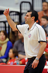 Bristol Flyers coach, Andreas Kapoulas - Mandatory byline: Dougie Allward/JMP - 11/12/2015 - Basketball - SGS Wise Campus - Bristol, England - Bristol Flyers v Plymouth Raiders - British Basketball League