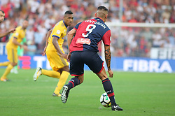 August 26, 2017 - Genoa, Liguria, Italy - Ricardo Centurion (Genoa CFC) in action during the Serie A football match between Genoa CFC and Juventus FC at Luigi Ferraris stadium on august 26, 2017 in Genoa, Italy. (Credit Image: © Massimiliano Ferraro/NurPhoto via ZUMA Press)