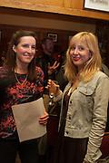 FLEUR MACDONALD; ANNA BADDELEY, The Omnivore hosts the third Hatchet  Job of the Year Award. Sponsored by the Fish Society.  The Coach and Horses. Greek st. Soho. London. 11 February 2014.