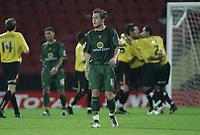 Photo: Paul Thomas.<br /> Watford v Norwich. Coca Cola Championship.<br /> 13/09/2005.<br /> <br /> Norwich's Jim Brennan can't believe Watford go 2 - 0 up.