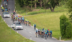 09.07.2019, Frohnleiten, AUT, Ö-Tour, Österreich Radrundfahrt, 3. Etappe, von Kirchschlag nach Frohnleiten (176,2 km), im Bild Peloton // Peloton during 3rd stage from Kirchschlag to Frohnleiten (176,2 km) of the 2019 Tour of Austria. Frohnleiten, Austria on 2019/07/09. EXPA Pictures © 2019, PhotoCredit: EXPA/ Johann Groder