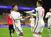Football - 2021 UEFA European Under-21 Championships - Qualifying - Group 3 - England vs Albania - Molyneux<br /> <br /> James Justin of England celebrates scoring goal no 2<br /> <br /> COLORSPORT/ANDREW COWIE