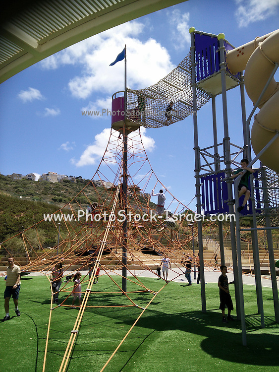 Jungle jim in a playground Photographed in Haifa, Israel