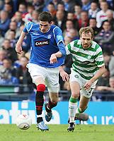 Fotball<br /> Skottland<br /> Foto: Colorsport/Digitalsport<br /> NORWAY ONLY<br /> <br /> CIS Cup Final<br /> Celtic v Rangers<br /> Hampden Park<br /> Glasgow<br /> 15.03.2009<br /> <br /> Kyle Lafferty and Andreas Hinkel