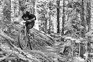 Heather Irmiger competes in Stage 1 of the Keystone Big Mountain Enduro in Keystone, CO. ©Brett Wilhelm
