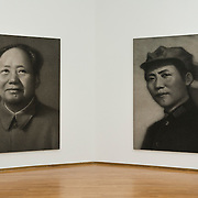 MILAN, ITALY - JULY 06:    Mao Portrait n1 and Mao Portrait n2 at the opening of the Exhibition 'Zhang Huan: Ashman' at the Padiglione Arte Contemporanea of Milan on July 6, 2010 in Milan, Italy. Zhang Huan: Ashman is  an exhibition of 42 of Huan's works, coming from international collections and dating from the early nineties to the most recent realized with ash....***Agreed Fee's Apply To All Image Use***.Marco Secchi /Xianpix. tel +44 (0) 207 1939846. e-mail ms@msecchi.com .www.marcosecchi.com