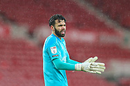 Portrait of Brendford goalkeeper David Raya Martin (1)  during the EFL Sky Bet Championship match between Middlesbrough and Brentford at the Riverside Stadium, Middlesbrough, England on 6 February 2021.