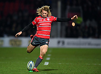 Rugby Union - 2018 / 2019 Gallagher Premiership - Gloucester vs. Exeter<br /> <br /> Gloucester's Billy Twelvetrees converts Ben Morgan's late winning try, at Kingsholm Stadium.<br /> <br /> COLORSPORT/ASHLEY WESTERN