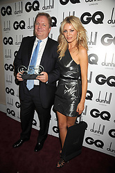 Editor of the Mail on Sunday PETER WRIGHT and TESS DALY at the GQ Men of the Year Awards held at the Royal Opera House, London on 2nd September 2008.<br /> <br /> NON EXCLUSIVE - WORLD RIGHTS