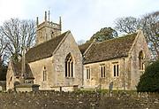 Historic village parish church of All Saints, Lydiard Millicent, Wiltshire, England, UK