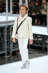 File photo - Hudson Kroenig walks on the runway during the Chanel Fashion Show at FW17 held in Paris, France on March 7, 2017. Karl Lagerfeld died on Monday at age 85. One who may inherit is his godson Hudson. Hudson's dad, model Brad Kroenig, is like 'family' to Lagerfeld. Hudson began modeling for Chanel at age two and had continued to pop up on the runway ever since. Photo by Alain Gil Gonzalez /ABACAPRESS.COM