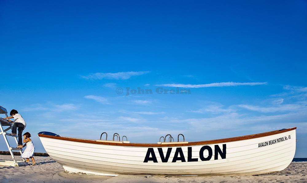 Avelon beach partol boat. Avelon, New Jersey