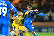 Kgosi Nthle makes a challenge  during the EFL Sky Bet League 1 match between Rochdale and Oxford United at Spotland, Rochdale, England on 12 March 2019.