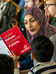 Pictured: Furheen Sarwar was theer to support her husband Anas.<br /> The Scottish Labour leadership candidate Anas Sarwar presented his vision for Scotland's future today in Edinburgh.<br /> <br /> Ger Harley | EEm 25 October 2017