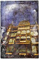 Old England, Brussels, Belgium - Forgotten Postcard digital art collage