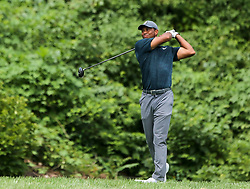 August 9, 2018 - St. Louis, Missouri, U.S. - Tiger Woods tees off during the first round of the 100th PGA Championship at Bellerive Country Club. (Credit Image: © Debby Wong via ZUMA Wire)