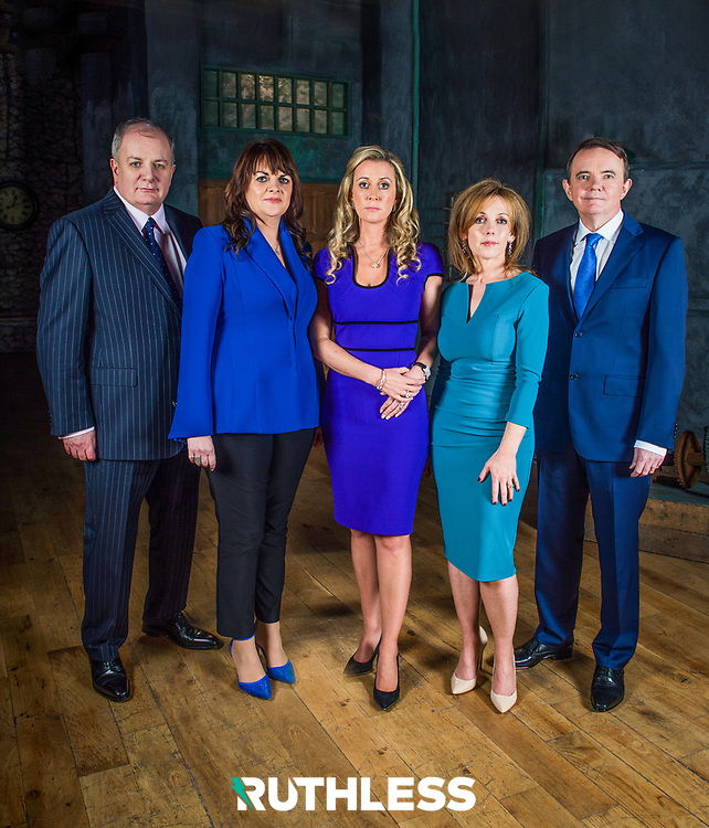 Gavin Duffy, Eleanor McEvoy, Alison Cowzer, Chanelle McCoy and Barry O'Sullivan - RTE Dragon's Den promotional imagery by Ruth Medjber www.ruthlessimagery.com