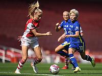Football - 2021 / 2022 Women's Super League - Arsenal vs Chelsea - Emirates Stadium - Sunday 5th September 2021<br /> <br /> Chelsea FC Women's Ji So-Yun battles with Arsenal Women's Leah Williamson.<br /> <br /> COLORSPORT/Ashley Western