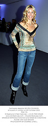 Swimwear designer MELISSA ODABASH at a party in London on 8th October 2003.<br /> PNK 176