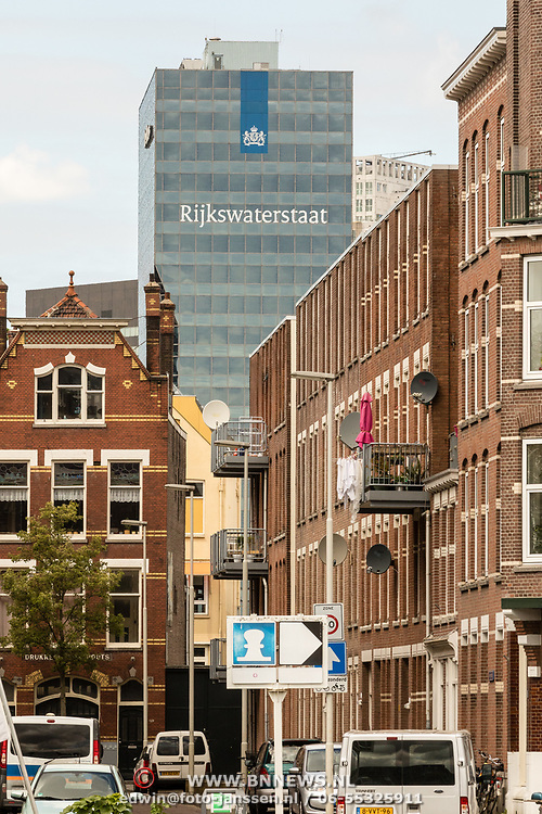 NLD/Rotterdam/20170509 - Het gebouw 'De Maas', het Hoofdkantoor van de RWS-Directie Zuid-Holland aan de Boompjes in Rotterdam.