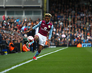 Sam Johnstone of Aston Villa making a save during the Sky Bet Championship match at Craven Cottage, London<br /> Picture by Richard Brooks/Focus Images Ltd 07947656233<br /> 17/04/2017
