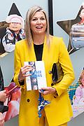 Koningin Maxima tijdens een werkbezoek aan Make-A-Wish Nederland in Hilversum. Het bezoek vond plaats in het kader van het dertigjarig jubileum van de organisatie.<br /> <br /> Queen Maxima during a working visit to Make-A-Wish Netherlands in Hilversum. The visit took place in the context of the organisation's thirty-year anniversary.