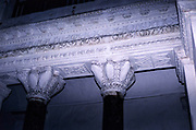 Church of the Saints Sergius and Bacchus, Little Hagia Sophia, Istanbul, Turkey 1997 - detail of stonework and columns
