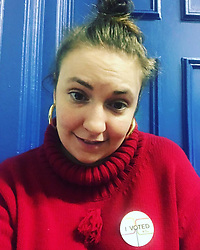 "Lena Dunham releases a photo on Instagram with the following caption: ""When I vote, I feel powerful and like the lady I was meant to be. That\u2019s special and rare. Thanks for the natural high, America \ud83c\uddfa\ud83c\uddf8 \ud83d\uddf3 \ud83c\uddfa\ud83c\uddf8"". Photo Credit: Instagram *** No USA Distribution *** For Editorial Use Only *** Not to be Published in Books or Photo Books ***  Please note: Fees charged by the agency are for the agency's services only, and do not, nor are they intended to, convey to the user any ownership of Copyright or License in the material. The agency does not claim any ownership including but not limited to Copyright or License in the attached material. By publishing this material you expressly agree to indemnify and to hold the agency and its directors, shareholders and employees harmless from any loss, claims, damages, demands, expenses (including legal fees), or any causes of action or allegation against the agency arising out of or connected in any way with publication of the material."