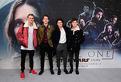 The Vamps attending a special screening of Rogue One: A Star Wars Story at the BFI IMAX, London. PRESS ASSOCIATION Photo. Picture date: Tuesday December 13, 2016. See PA story SHOWBIZ Rogue One. Photo credit should read: Ian West/PA Wire