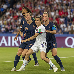 June 28, 2019 - Le Havre, França - LE HAVRE, SM - 28.06.2019: NORWAY VS ENGLAND - Kelley O' of the the United States and Amandine Henry and GaÃ«tane Thiney rance during a match between England and Nor Norway. World Cup Qualification Football. FIFA. Held at the Oceane Stadium in Le Havre, France  (Credit Image: © Richard Callis/Fotoarena via ZUMA Press)
