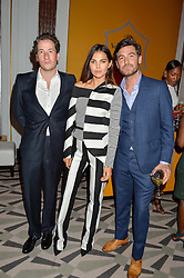 Left to right, BLAISE PATRICK, DOINA CIOBANU and ROBERT KONJIC at the Veuve Clicquot Business Woman Award 2016 held at Claridge's Hotel, Brook Street, London on 9th May 2016.