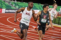 University of Oregon<br /> Oregon Relays track and field meet<br /> April 23-24, 2021 Eugene, Oregon, USA<br /> mens 200, Washington St, Stanford