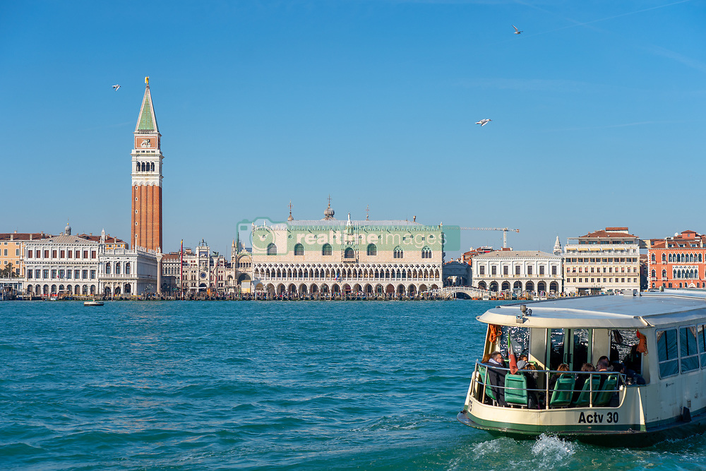 Views of St Mark's Campanile and the Doge's Palace in Venice. From a series of travel photos in Italy. Photo date: Monday, February 11, 2019. Photo credit should read: Richard Gray/EMPICS