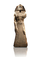 12 dynasty Egyptian statue of king Amenemhet III praying. 1840-1800 BC, Memphis. Neues  Museum, Berlin. Cat No AM1121 .<br /> <br /> If you prefer to buy from our ALAMY PHOTO LIBRARY  Collection visit : https://www.alamy.com/portfolio/paul-williams-funkystock/ancient-egyptian-art-artefacts.html  . Type -   Neues    - into the LOWER SEARCH WITHIN GALLERY box. Refine search by adding background colour, subject etc<br /> <br /> Visit our ANCIENT WORLD PHOTO COLLECTIONS for more photos to download or buy as wall art prints https://funkystock.photoshelter.com/gallery-collection/Ancient-World-Art-Antiquities-Historic-Sites-Pictures-Images-of/C00006u26yqSkDOM