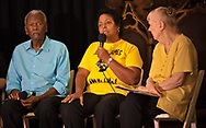 Sharon Lavigne, founder of Rise St. James,  at a forum with Rev. William Barber in New Orleans on July 26, 2019..