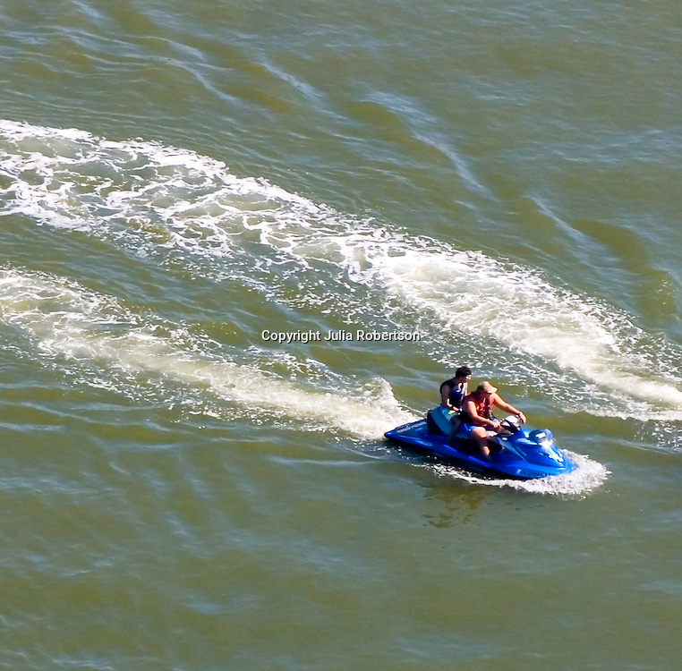 Aerial view of Jet skiing